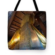 Back View Of Reclining Buddha Tote Bag