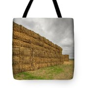 Bales Of Hay On Farmland 4 Tote Bag