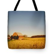 Barn And Corn Field Tote Bag