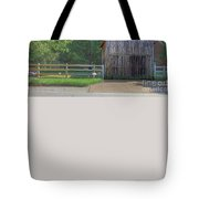 Barn By A Fence Tote Bag