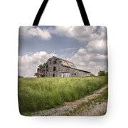 Barn On A Hill Tote Bag