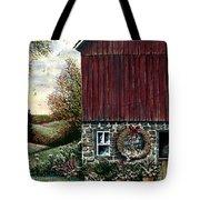 Barn Wreath Tote Bag