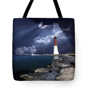 Barnegat Inlet Lighthouse Nj Tote Bag