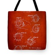 Baseball Training Device Patent Drawing From 1963 Tote Bag