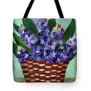 Basket Of Hyacinths  Tote Bag