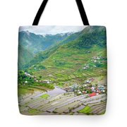 Batad Village And Unesco World Heritage Tote Bag