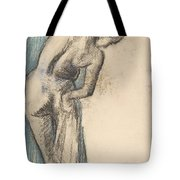 Bather Drying Herself Tote Bag