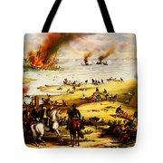 Battle Of Hampton Roads Tote Bag
