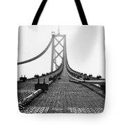 Bay Bridge Under Construction Tote Bag