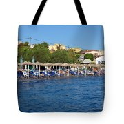 Beach In Aegina Town Tote Bag
