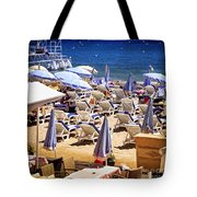 Beach In Cannes Tote Bag by Elena Elisseeva