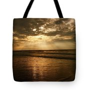 Beach Sunrise Tote Bag by Nelson Watkins