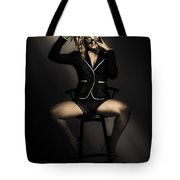 Beautiful Alluring Young Woman In Sexy Lingerie Tote Bag