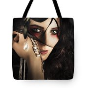 Beautiful Female Fashion Model In Luxury Jewellery Tote Bag