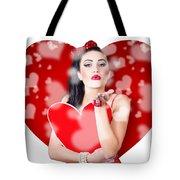 Beautiful Girl In A Bright Love Romance Tote Bag