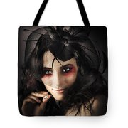 Beautiful Jewellery Woman Wearing Necklace Tote Bag