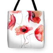 Beautiful Poppy Flowers Tote Bag