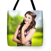 Beauty Girl. Beautiful Young Woman With Clean Skin Tote Bag