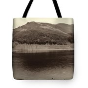 Beauty Of A Loch And Natural Surroundings In The Scottish Highlands Tote Bag