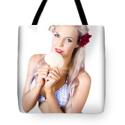 Beauty Woman With Clean Skin And Natural Makeup Tote Bag