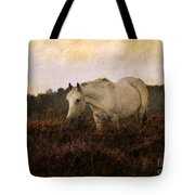Bed Of Heather Tote Bag