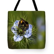 Bee Collecting Pollen Tote Bag