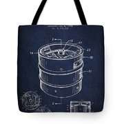 Beer Keg Patent Drawing - Green Tote Bag