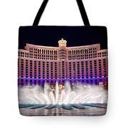 Bellagio Hotel And Casino At Night Tote Bag