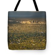 Bellvue Skyline At Sunset Tote Bag