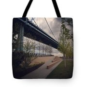 Ben Franklin Bridge Tote Bag by Katie Cupcakes