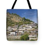 Berat Old Town In Albania Tote Bag