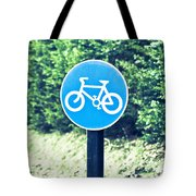 Bicyle Route Tote Bag
