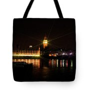 Big Ben And The House Of Parliment On The Thames Tote Bag