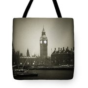 Big Ben On A Wintery Day Tote Bag