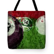 Billiards Abstract Tote Bag