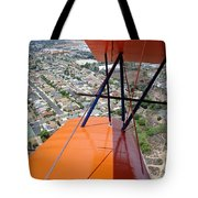 Biplane Over San Diego Tote Bag