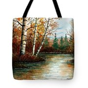 Birch Pond Tote Bag