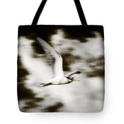 Bird Flying In The Clouds Tote Bag