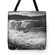 Black And White Waterfall Tote Bag