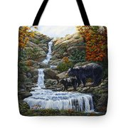 Black Bear Falls Tote Bag by Crista Forest