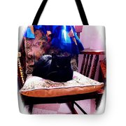 Black Cat With One White Whisker Tote Bag