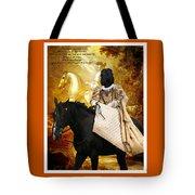 Black Russian Terrier Art Canvas Print Tote Bag