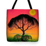 Black Tree - Algorithmic Art Tote Bag