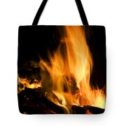 Blazing Campfire Tote Bag