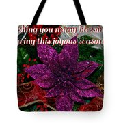 Blessings Christmas Card Tote Bag