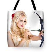 Blond Woman With Cupid Bow Tote Bag