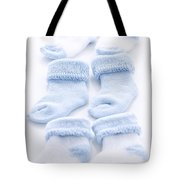 Blue Baby Socks Tote Bag