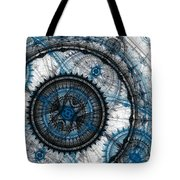 Blue Clockwork Tote Bag