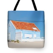 Blue Fisherman House Tote Bag