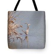 Blue Heron In The Wild Tote Bag